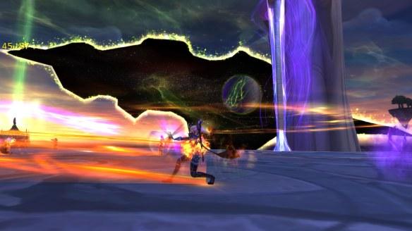 Battling Gul'dan in the Nighthold raid in World of Warcraft: Legion