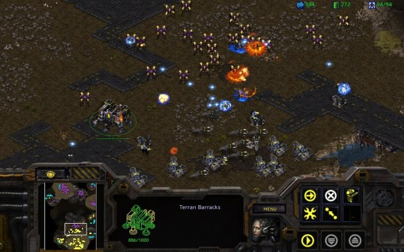 A screenshot from the official remaster of StarCraft 1