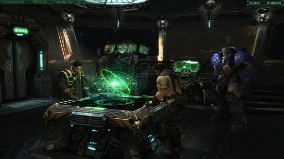 The bridge of the Hyperion in StarCraft II