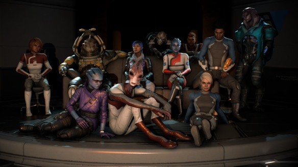 The crew of the Tempest in Mass Effect: Andromeda