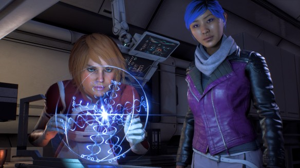 Dr. Suvi Anwar and Sara Ryder in Mass Effect: Andromeda
