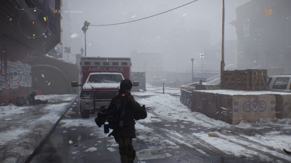 The deserted streets of New York in The Division