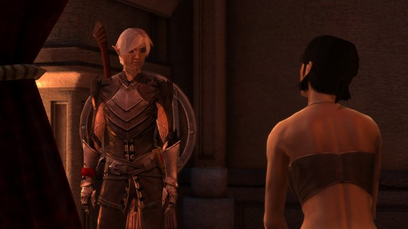 Fenris and Hawke in Dragon Age II