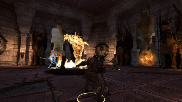 A battle during the Legacy DLC in Dragon Age II