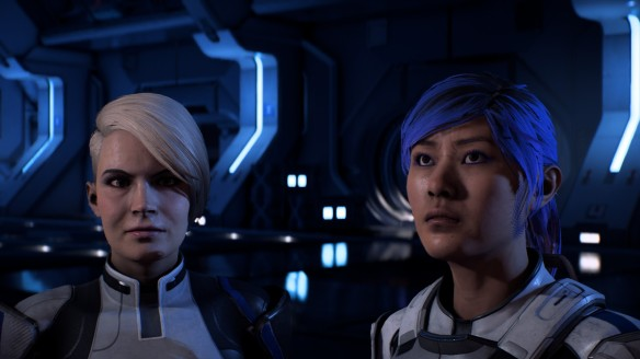 Sara Ryder and Cora Harper in Mass Effect: Andromeda