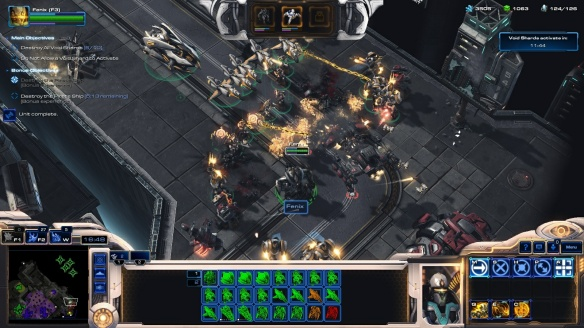 Fenix's Purifiers assault the enemy in StarCraft II co-op