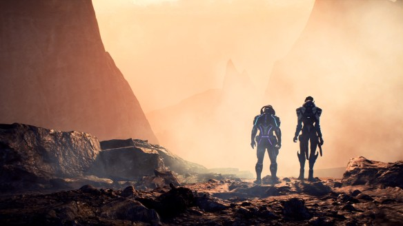 Scott Ryder and Vetra Nyx in Mass Effect: Andromeda