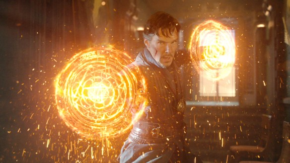 Benedict Cumberbatch as the title character in Doctor Strange