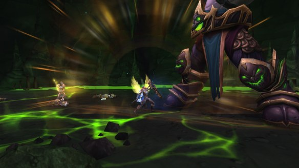 My paladin unleashing the Eye of Tyr in World of Warcraft