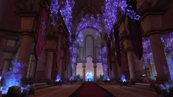 The mage order hall in World of Warcraft