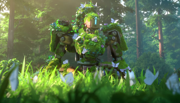 A shot from Overwatch's The Last Bastion short