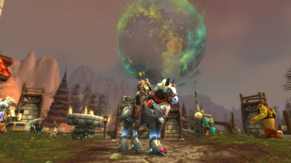 The Highlord's Vengeful Charger mount in World of Warcraft