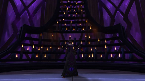My priest embraces the shadow in World of Warcraft