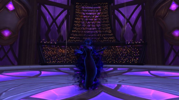 My priest in Voidform in World of Warcraft