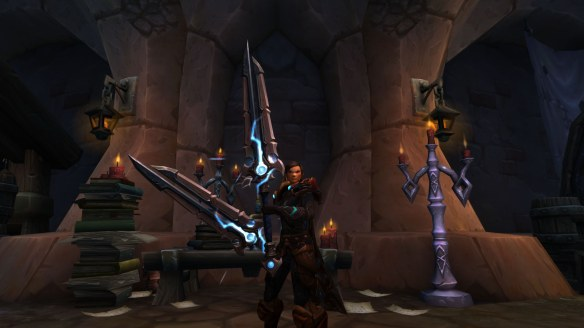The Thunderfury, Hallowed Blade of the Windlord hidden artifact appearance for outlaw rogues in World of Warcraft