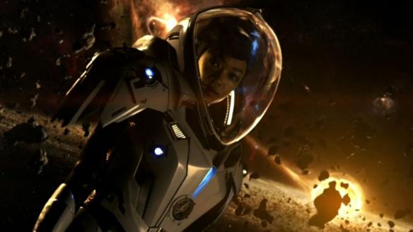 Sonequa Martin-Green as Commander Michael Burnham in Star Trek: Discovery