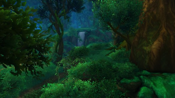 A scenic view of Val'sharah in World of Warcraft
