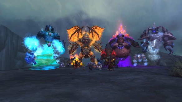 The Elemental Lords assembled as part of the shaman campaign in World of Warcraft: Legion