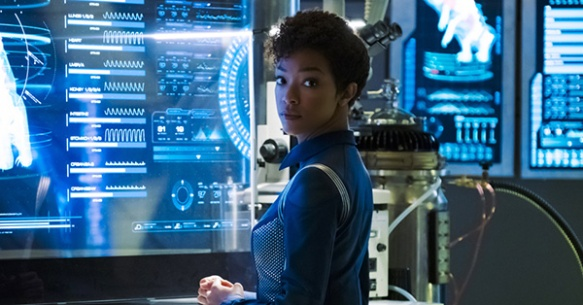 Sonequa Martin-Green as Commander Michael Burnham on Star Trek: Discovery