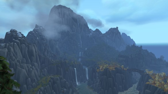 The Vrykul land of Stormheim in World of Warcraft