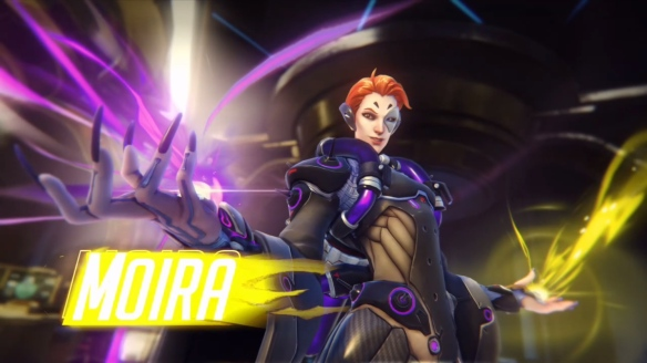 The new support hero, Moira, in Overwatch