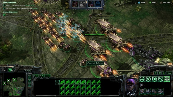 Matt Horner and Mira Han's army in StarCraft II co-op