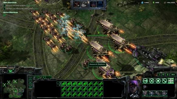 Matt Horner and Mira Han's army in StarCraft II co-op