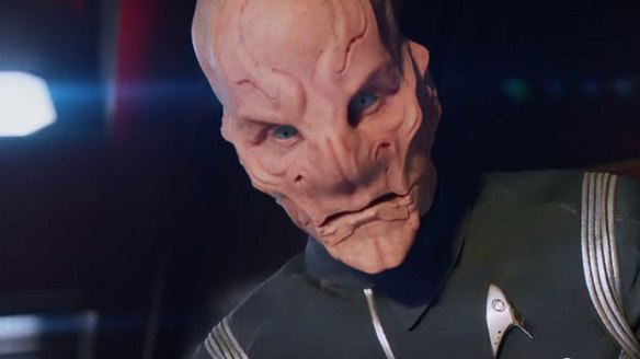Doug Jones as Commander Saru in Star Trek: Discovery