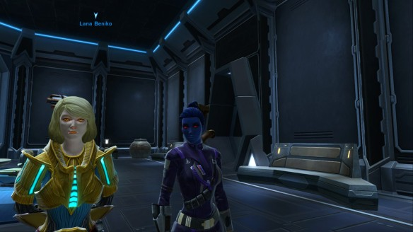 Cipher Nine and Lana Beniko in Star Wars: The Old Republic