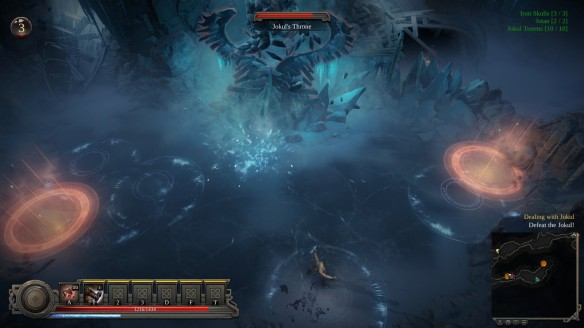 Fighting a boss in Vikings: Wolves of Midgard