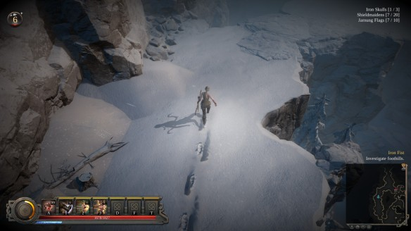 The realistic snow effects of Vikings: Wolves of Midgard