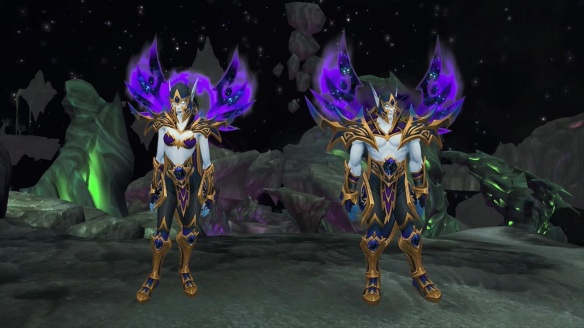 The new Void Elf subrace in World of Warcraft: Battle for Azeroth