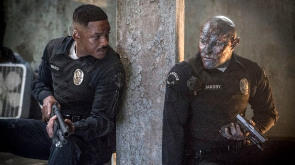 Will Smith and Joel Edgerton as Officers Ward and Jakoby in Bright