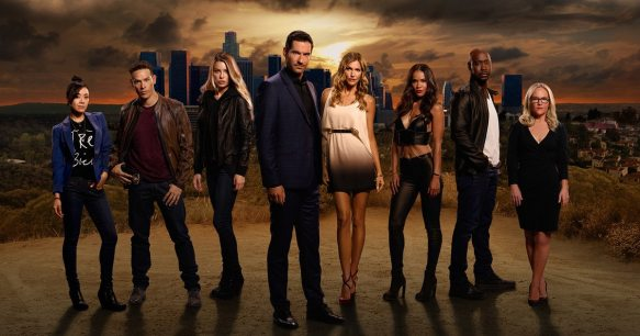 The cast of Lucifer circa season two