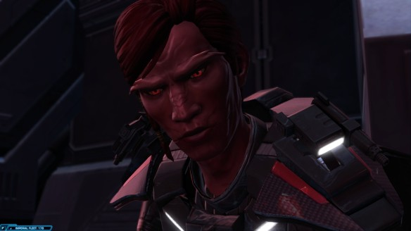 My Sith warrior in Star Wars: The Old Republic