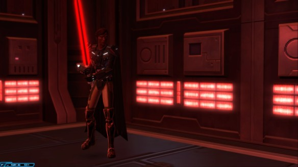 My warrior practicing lightsaber technique in Star Wars: The Old Republic