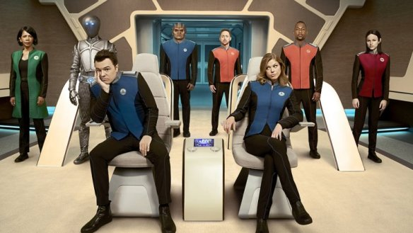 The cast of Seth MacFarlane's The Orville