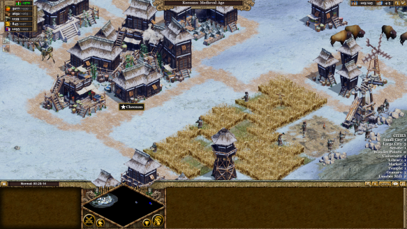 A Korean town in Rise of Nations: Extended Edition