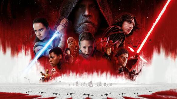 A promotional image for Star Wars: The Last Jedi