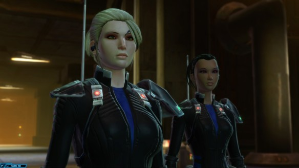 My bounty hunter and Mako in Star Wars: The Old Republic