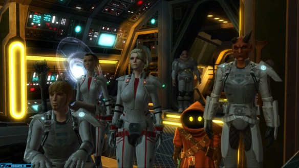 My bounty and her companions in Star Wars: The Old Republic
