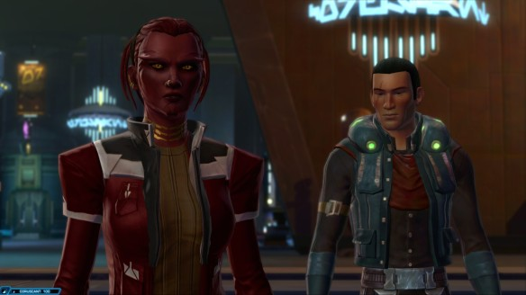 My smuggler and Corso Riggs in Star Wars: The Old Republic