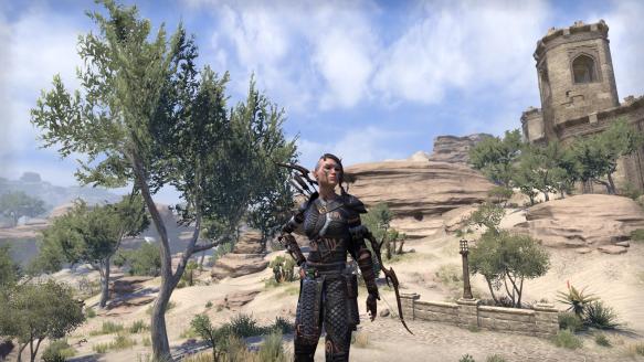 My sorcerer's new outfit in Elder Scrolls Online