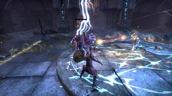 My templar tanking the Banished Cells dungeon in Elder Scrolls Online