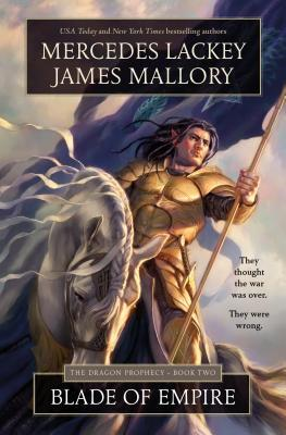 Cover art for The Dragon Prophecy, book two: Blade of Empire by Mercedes Lackey and James Mallory