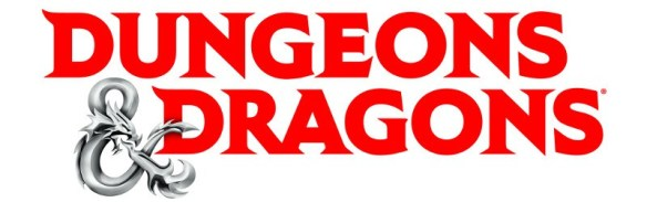 The official logo for Dungeons and Dragons, fifth edition