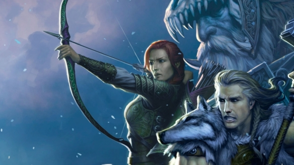 Art from the Dungeons and Dragons game Neverwinter depicting an Elf very much like my own paladin