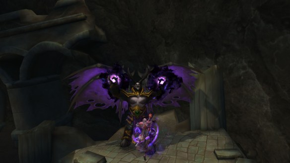 Confronting Balnazzar during the Ashbringer artifact quest in World of Warcraft: Legion