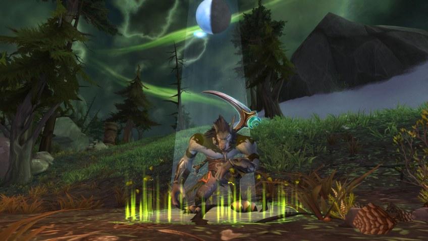 My Worgen druid in World of Warcraft: Legion