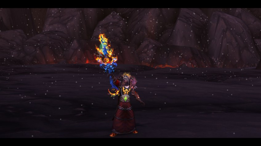 The hidden appearance for the mage artifact Ebonchill in World of Warcraft: Legion